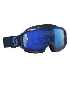 Scott Hustle MX Goggle Angled blue/pink blue chrome lens