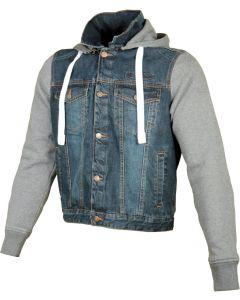 Booster Denim jacket hoodie Ladies Dark wash