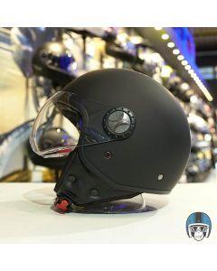 Vito Jet Loreto scooterhelm matzwart