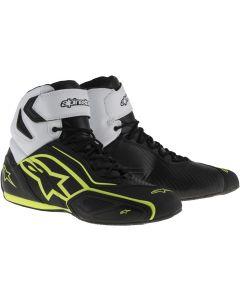 Alpinestars Faster-2 Waterproof Shoes Black/White/Fluo Yellow 125