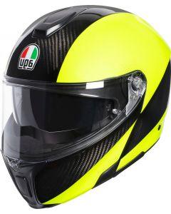 AGV Sportmodular Hi Vis Carbon/Yellow Fluo 002