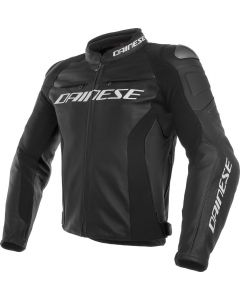 Dainese Racing 3 Leather Jacket Black/Black/Black 691