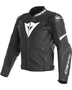 Dainese Avro 4 Leather Jacket Black Matt/Black Matt/White 22A