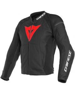 Dainese Nexus Leather Jacket Black/Lava Red/Black D52