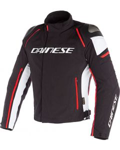 Dainese Racing 3 D-Dry Jacket Black/White/Fluo Red N32