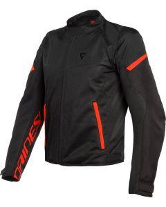 Dainese Bora Air Tex Jacket Black/Fluo Red 628