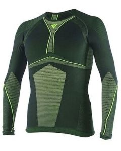 Dainese D-Core Dry Longsleeve Shirt Black/Fluo Yellow 620