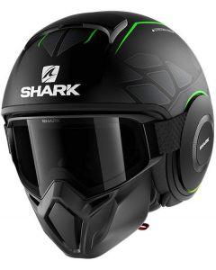 Shark Street Drak Hurok Matt Black/Green/Black KGK
