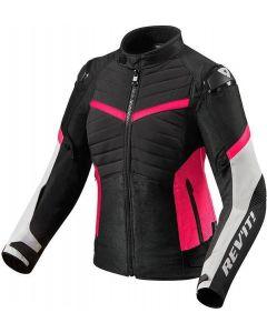 REV'IT Arc H2O Ladies Jacket Black/Fuchsia