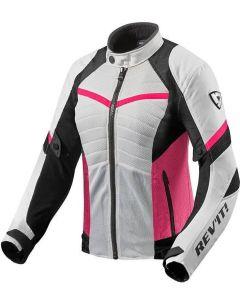 REV'IT Arc Air Ladies Jacket White/Fuchsia