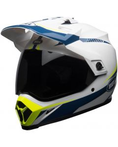 BELL MX-9 MIPS Adventure Gloss White/Blue/Yellow Torch