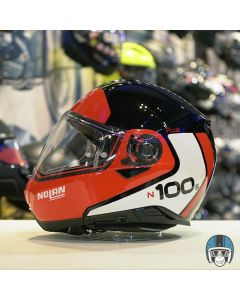 Nolan N100-5 Plus Distinctive N-Com Glossy Red 027